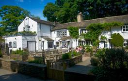 Enjoy the food and scenery at this famous West Yorkshire inn