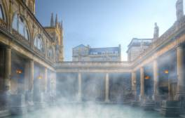 Get togged up in a toga at Bath's ancient Roman baths