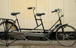 Ride a bicycle built for two
