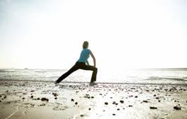 Yoga on Bournemouth Beach