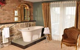 Luxuriate in a boutique bedroom at the Joiners Arms