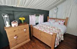 Canvas cottages at the Dandelion Hideaway