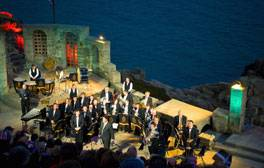 See an open-air play at the Minack Theatre