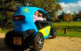 Zoom around the forest in a funky electric Twizy