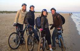 Enjoy a cycle ride along the seaside in Bournemouth