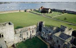 Picnic within the walls of Portchester Castle