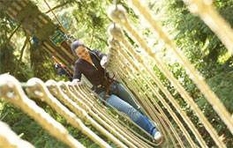 Enjoy high-wire and two-wheeled adventure