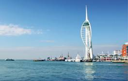 Feel the sea breeze in Portsmouth Harbour
