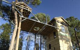 Test your head for heights at the Adventure Rope Course