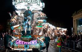 Watch illuminated floats at Bridgwater Guy Fawkes Carnival