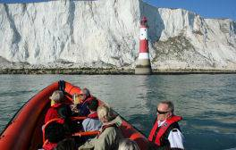 Adventure boat trips to Beachy Head