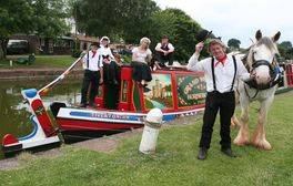 Take a trip on one of England's last horse-drawn barges