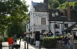 Enjoy a drink at England's oldest pub