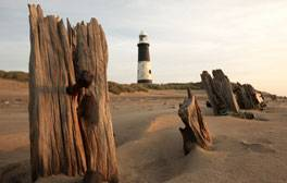 See the unique curving spit at Spurn