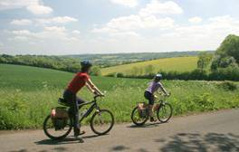 Classic English countryside cycling