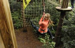 Take on the challenge of the Go Ape! Tree Top Adventure