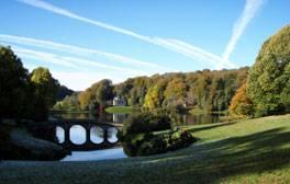 Recreate film scenes at Stourhead gardens