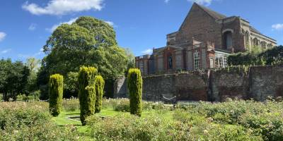 View of Eltham Palace from rose garden