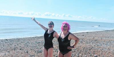 The Scummy Mummies on the beach in Deal, Kent.