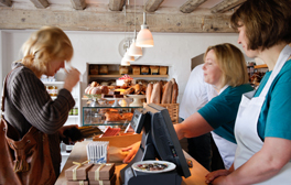 Tuck into artisan baked goods at the Pump Street Bakery