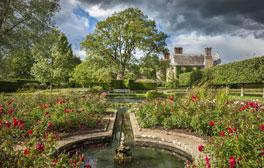 Bateman's - East Sussex (c)National Trust Images, Andrew Butler (rose garden and pond)