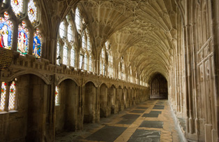 The Cloisters in Gloucester Cathedral