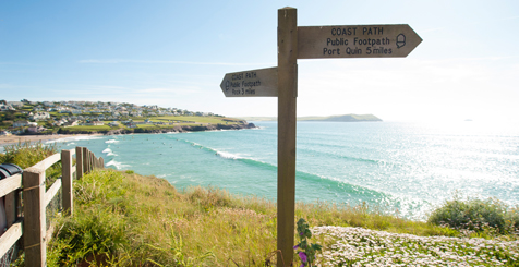 Coastal path signs