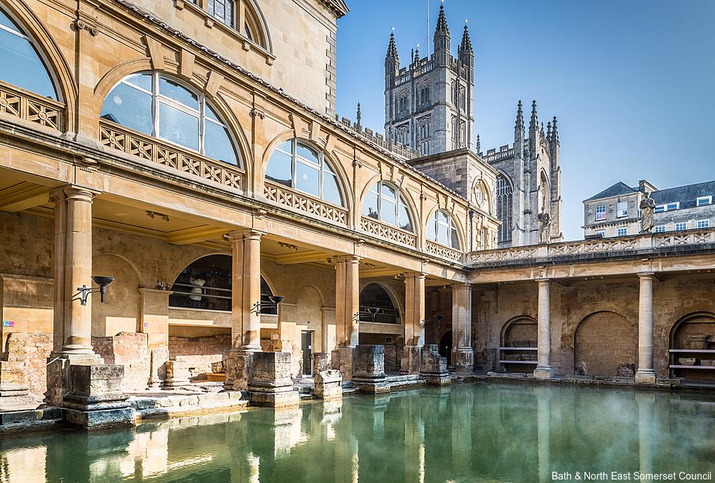 The Roman Baths in Bath, England.