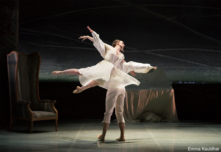 Hannah Bateman as Jane and Joseph Taylor as Mr Rochester in Jane Eyre at Northern Ballet, Leeds, England
