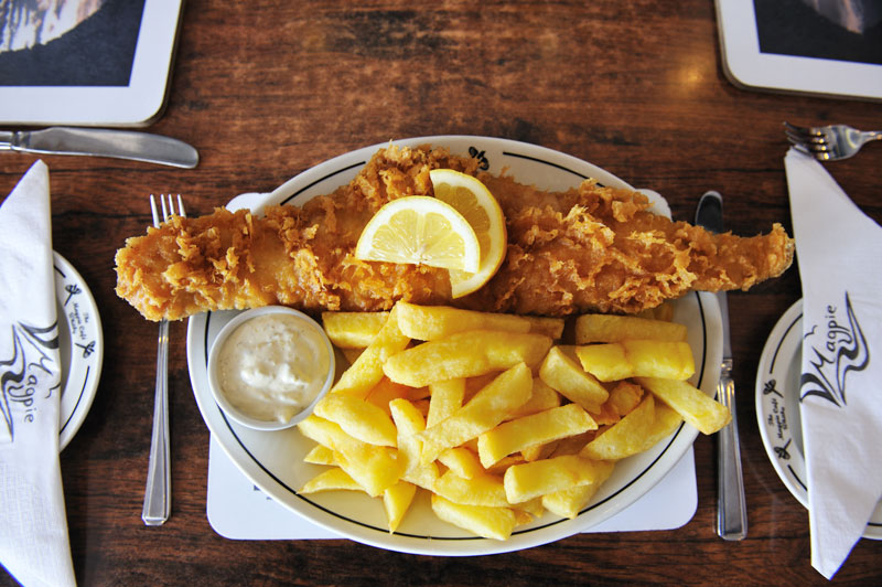 An epic plate of Magpie's fish 'n' chips in Whitby