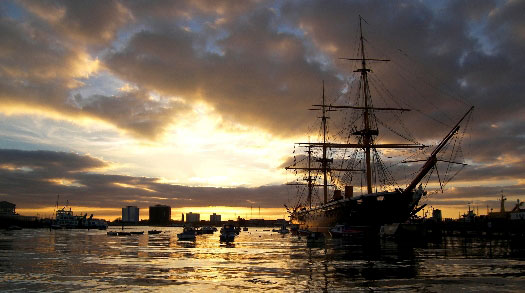 Get married in nautical style aboard the HMS Warrior