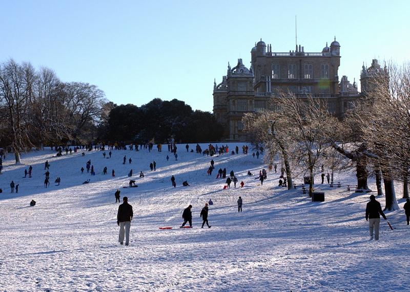 Wollaton Hall winter