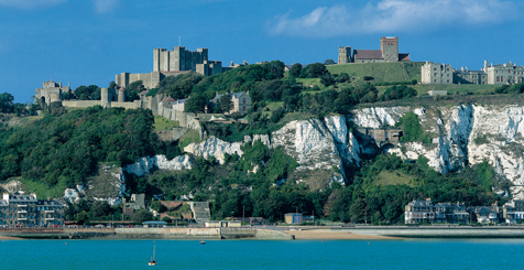 Dover Castle and White Cliffs