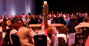 Große Konferenzen und Messen