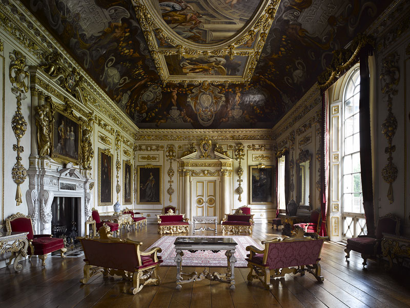The baroque interior of Wilton House in Wiltshire