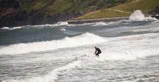 A man surfing