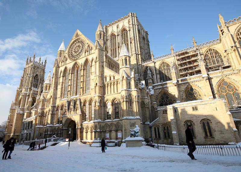 York Minster winter